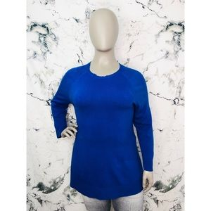 CJ Banks Long Sleeve Sweater Royal Blue